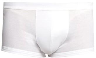 Zimmerli Sea Island Cotton Boxer Trunks - Mens - White