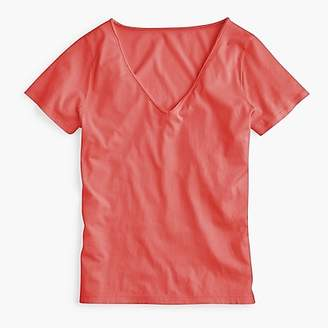 J.Crew Supersoft Supima® raw-edge V-neck T-shirt