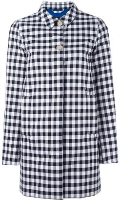 Woolrich checked mid coat $549.66 thestylecure.com