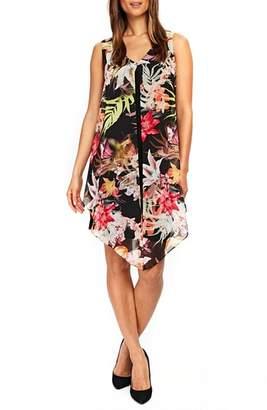 Wallis Neon Tropical Overlay Shift Dress