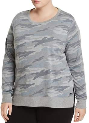 Andrew Marc Plus Camouflage-Print French Terry Sweatshirt