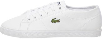 7feec7fd5aae8 Lacoste Womens Riberac Leather Trainers White White