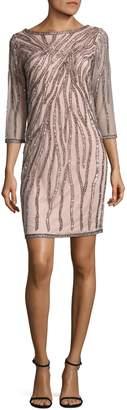 J Kara Sequined Shift Dress