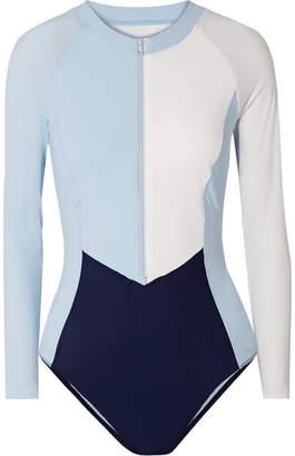 Vaara - Isla Color-block Swimsuit - Navy