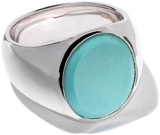 Tom Wood oval turquoise ring