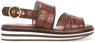 Max Mara crocodile-print sandals