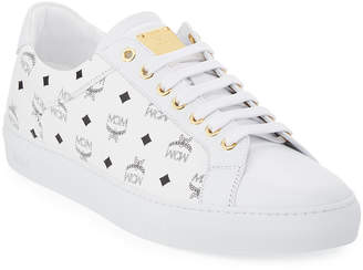 MCM Visetos Men's Low-Top Sneakers
