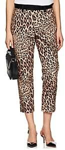 Frame Women's Cheetah-Print Moleskin High-Rise Pants