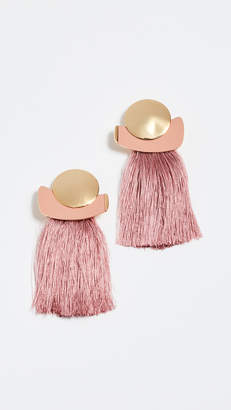 Lizzie Fortunato Mulberry Fringe Earrings