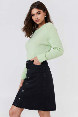NA-KD Na Kd Button Up Long Denim Skirt