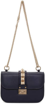 Valentino Navy Garavani Small Lock Bag