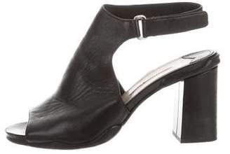 PeepToe Prada Sport Peep-Toe Leather Sandals