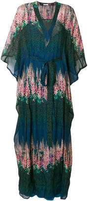 AILANTO floral sheer kaftan dress