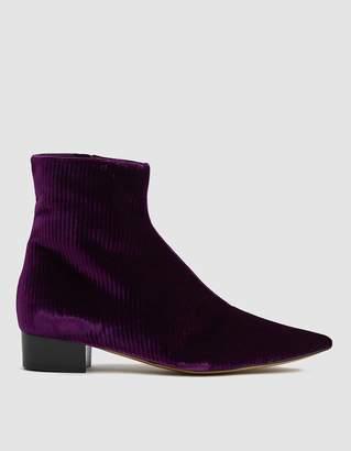 Ellery Velvet Ankle Boot