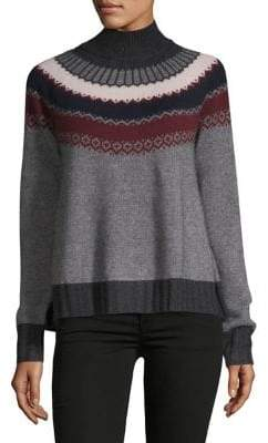 Autumn Cashmere Fair Isle Turtleneck Sweater