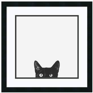 Amanti Art ''Curiosity'' Cat Framed Wall Art