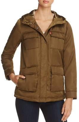 Levi's Faux Fur Lined Four-Pocket Puffer Coat