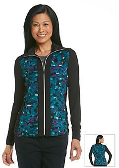 Laura Ashley Pebble Print Knit Jacket