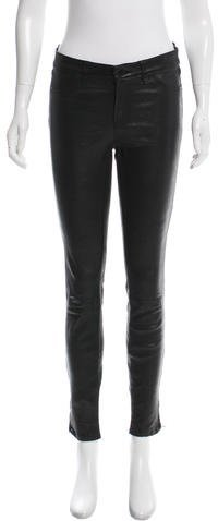 J Brand J Brand Leather Skinny Pants