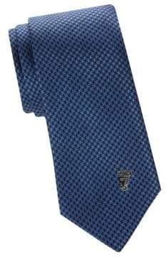 Versace Silk Patterned Medusa Tie