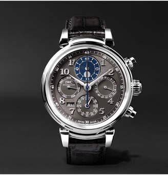 IWC SCHAFFHAUSEN Da Vinci Perpetual Calendar Chronograph 43mm Stainless Steel And Alligator Watch