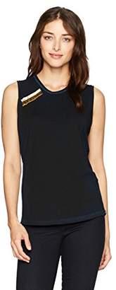 Freecity Women's Paintbox Sleeveless T-Shirt W/Pins