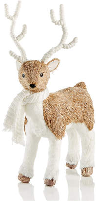 Holiday Lane Deer With Scarf Table Figurine, Created for Macy's