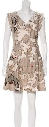 Paule Ka V-Neck Sleeveless Dress