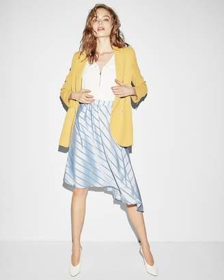 Express Diagonal Stripe Asymmetrical Midi Skirt