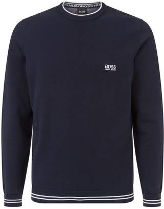 HUGO BOSS Logo Embroidered Sweater