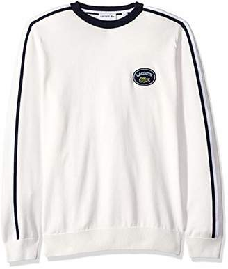 Lacoste Men's Long Heritage France Sleeve Stripe Sweater