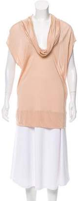 Stella McCartney Cowl Neck Short Sleeve Top