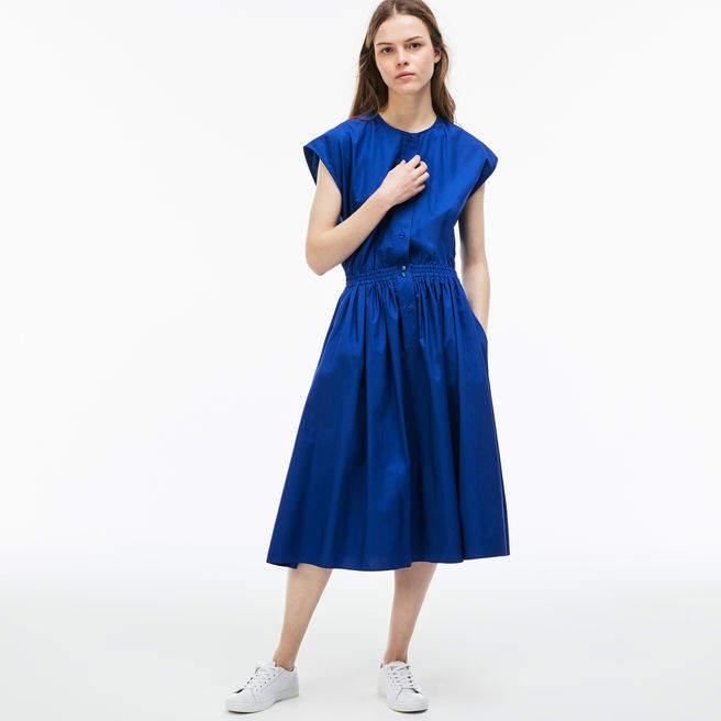 Damen Baumwoll-Popeline Kleid