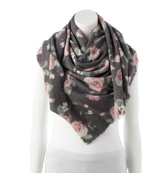 Lauren Conrad Women's Floral Square Blanket Scarf