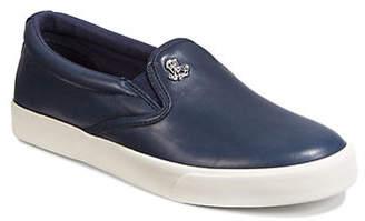 Lauren Ralph Lauren Leather Slip-On Sneakers