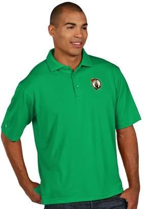Antigua Men's Boston Celtics Pique Xtra-Lite Polo