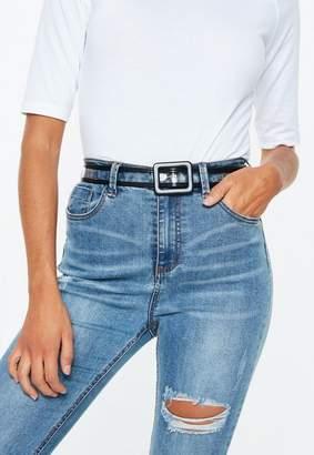 Missguided Black Transparent Belt
