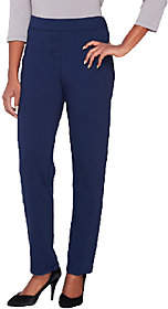 Joan Rivers Classics Collection Joan Rivers Regular Ponte Knit Pull-On TuxedoPants Grosgrain