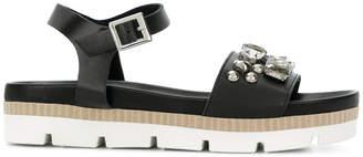 Twin-Set jewel embellished buckled sandals