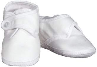 Little Things Mean a Lot Boys Cotton Sateen Shoes 3 Months-6 Months