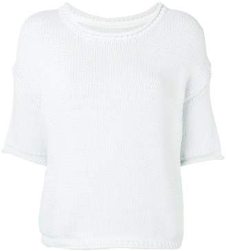 Humanoid short sleeve knit top