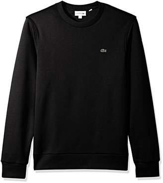 Lacoste Men's Long Sleeve Crew Neck Melton Grate Sweatshirt