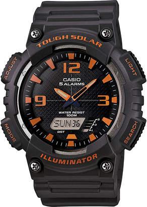 Casio Mens Black Dial Gray Resin Strap Solar Sport Watch AQ-S810W-8A