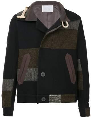 Kolor colour-block fitted coat