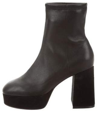Opening Ceremony Round-Toe Platform Ankle Boots