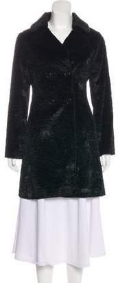 Blumarine Double-Breasted Notch-Lapel Coat