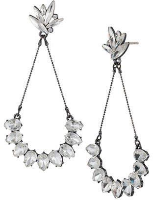 ABS by Allen Schwartz Black Magic Navette and Teardrop Drop Earrings