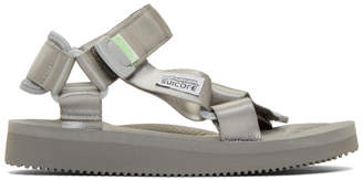 Suicoke SSENSE Exclusive Grey Tonal Sole Depa-Cab Sandals