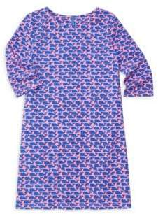 Vineyard Vines Little Girl's& Girl's Whale Print Dress