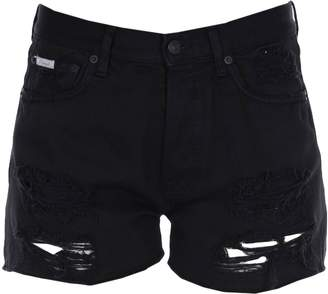 (+) People Denim shorts